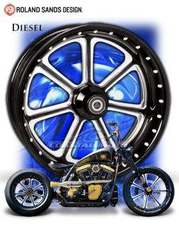 PM RSD Performance Machine Diesel Motorcycle Wheels Harley Streetglide