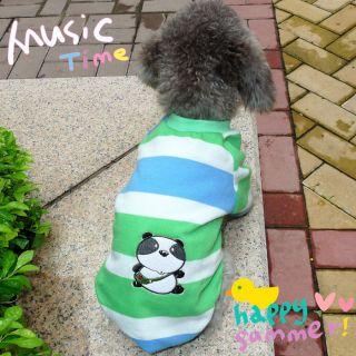 New Pet Dog Cat Green schoolbag panda dog Shirt Clothes Apparel Pet