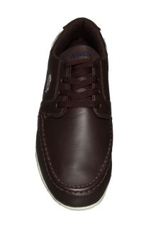 Lacoste Mens Shoes Dreyfus EO SPM LTH Dark Brown Blue 7 24SPM12122J6