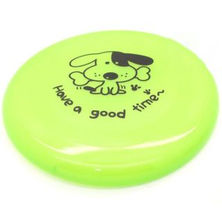 Pet Dog Cat Training Frisbee Toys Flying Disc Flyer Garden Beach Toy