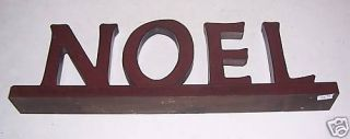 Amish Made Wooden Letter Plaque Noel New Cherry Wood