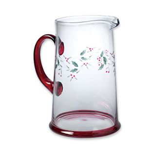 pfaltzgraff winterberry etched glass water pitcher winterberry is the