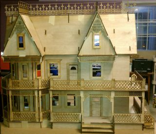 Victorian Farmhouse 1 Scale Large Dollhouse Kit 9 Rooms