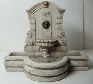 Dollhouse Miniature Cast Resin Garden Wall Fountain 4262GY