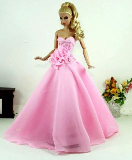 Fashion Silkstone Barbie Model Gown Outfit Dress for Dolls and Toys