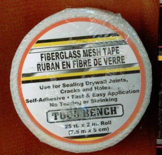 Fiberglass Reinforced Drywall Repair Tape 25 x 2 Roll 17 5m x 6cm Qty