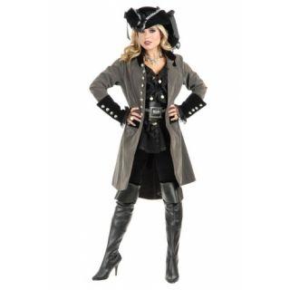 Two Tone Gun Metal Grey Black Dress Up Halloween Adult Costume