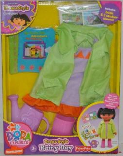 DORA THE EXPLORER DRESS UP & STYLE DOLL CLOTHES RAINY DAY OUTFIT