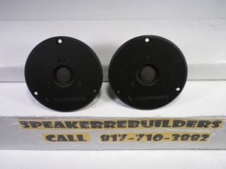 Pair Infinity Polyspherite Dome Tweeters 902 4130