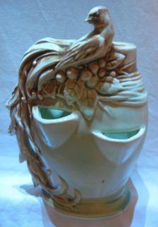 Beautiful McCoy Ceramic Pottery Planter Vase with Bird of Paradise 8
