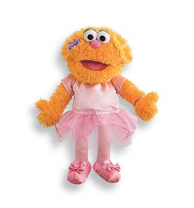 Gund Sesame Street Zoe Ballerina Doll $28 Value