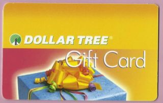 Dollar Tree Collectible No Value Gift Card Present Buy 6 SHIP Free