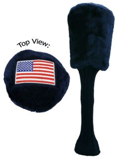 New Izzo Golf American Flag Embroidered Driver Head Cover