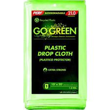 New Perf Go Green Plastic Drop Cloth Recycled Plastic Lime Green 10