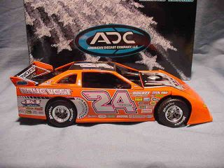 24 Dirt Late Model ADC 1 24 Rayevest Hoosier Race Car Diecast