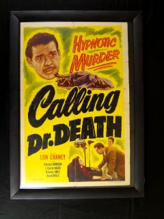 CALLING DR. DEATH LON CHANEY REALART 1953 27X41 ORIGINAL MOVIE POSTER