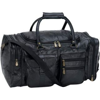 Embassy™ 21 Hand Sewn Pebble Grain Genuine Leather Duffle Bag