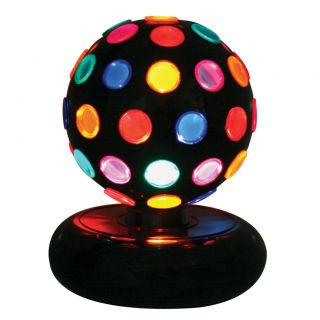Colored Table Top Rotating Disco Ball Light Lamp for Teen Kid