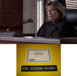 LAW & ORDER Donna Hanover Judge Deborah Bourke SCREEN USED