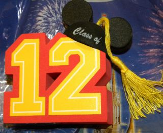 Disney Parks Graduation 2012 Car Antenna Topper Mickey Ear Hat Class