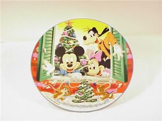Schmid Walt Disney Christmas Collector Plate 1986 with Original Box