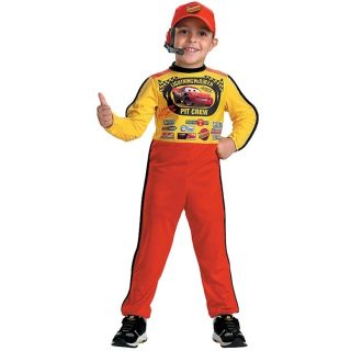 Disney Cars Lightning McQueen Pit Crew Child 3pc Jumpsuit Hat