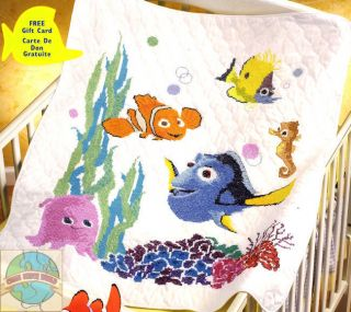 Cross Stitch Kit ~ Disney Finding Nemo Baby Crib Quilt
