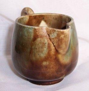 Antique Miniature Dunmore Pottery Mottled Glaze Jug Impressed Mark