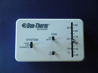 DUO THERM BY DOMETIC THERMOSTAT C F HP Part 3106995 032 RV MOTORHOME
