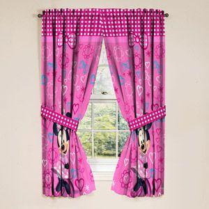Disney Minnie Mouse Window Panels Curtains Drapes