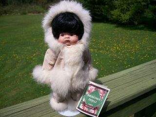 Heritage Dolls Designed by Indian Arts & Crafts Girl Eskimo Doll Real