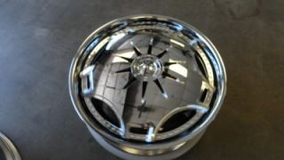 24 Dub Ganja S788 Spinner Wheels Rims 5x115 5x120 Dodge Charger