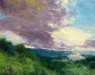 Art Oil Painting Landscape A Distant Mirror 24X30 T Nelson