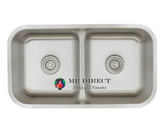 Undermount Stainless Steel Half Divide Kitchen Sink New
