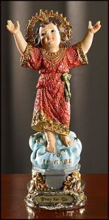 DIVINE NINO JESUS STATUE PRAY FOR US 8 TALL CATHOLIC GIFT HAND PAINTED