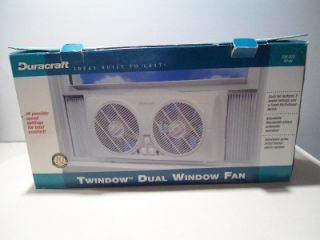 nib duracraft dual window fan white dw 628