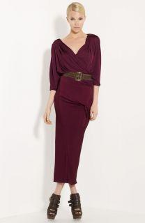 Donna Karan Collection Slashed Jersey Dress Size S