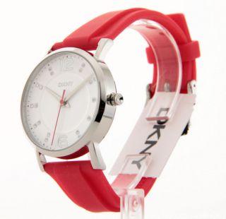 Donna Karan Womens Casual Crystal Rubber Watch NY8516