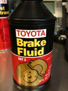 Lexus Toyota 2 Brake Fluid Dot 3 12FL Oz
