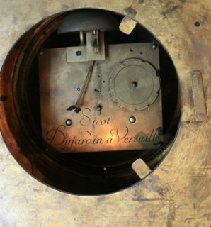 Clock Gold Gilt Bronze Signed Sicot Dujardin A Versailles