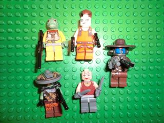 Lot Set of Star Wars Lego Mini Figures Bounty Hunters