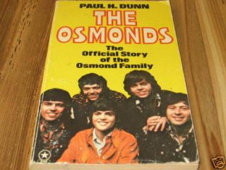 Donny Osmond Genuine Hand Sign Autographed Book 1975