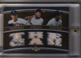 2010 Topps triple threads Mickey Mantle, Babe Ruth, Roger Maris Game