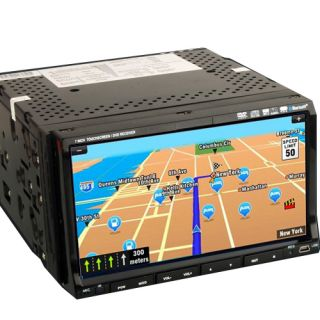 Double 2 DIN 7 HD Car Stereo CD DVD Player GPS Map iPod Bluetooth TV