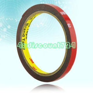 3M Double Sided Attachment Tape 10mm for Auto Car Red