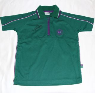 Novak Djokovic Signed Wimbledon Tennis Polo Shirt with COA