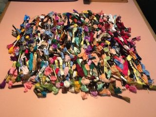 DMC Embroidery Floss Skeins   Miscellaneous Lot of 200   Assorted