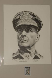 RARE War Douglas MacArthur WWII Signed by Paul Calle