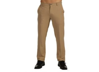 Dunning Golf Stretch Performance Flat Front Pants Dark Beige 40 32
