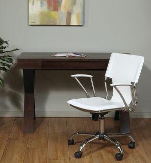 Avenue Six White Vinyl Dorado Swivel Office Manager Task Desk Chair